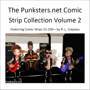 Punksters Punk Rock Comic strip collection volume 2