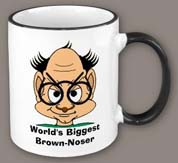 Brown-noser mug
